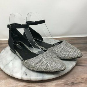 Seychelles Briana Tweed D'Orsay Ankle Strap Flats